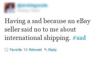 international shipping from ebay