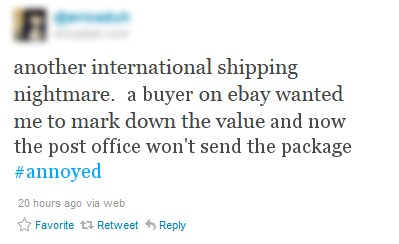 no international shipping from ebay