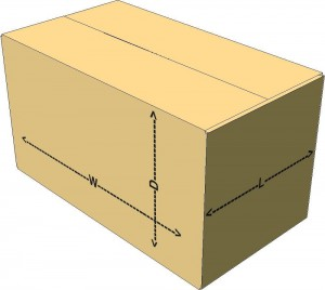 26X14X14 DIM WEIGHT BOX