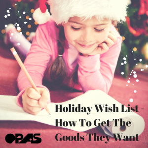 Holiday Wish List - How To Get The Goods