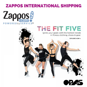 zappos international shipping