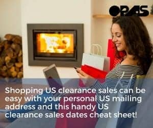 US clearance sales dates