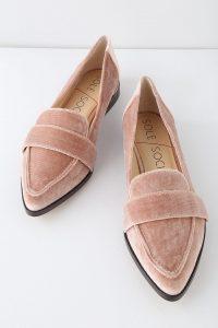 EDIE MOONLIGHT MAUVE VELVET LOAFERS Lulus   Fall Shoe Trends