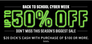 Dick's Sporting Goods | Back to School Sales