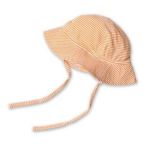 Zutano Baby Hat Candy Stripe Sun Hat Orange | Summertime Baby Essentials