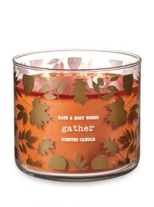 3-Wick Candle Gather Scent Bath and Bodyworks | Shopping for Fall | OPAS