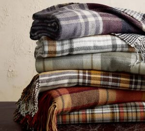 "Benjamin Plaid Throw, 50 x 60"", Warm Multi Potttery Barn 