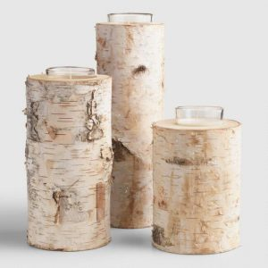 Birch Votive Candle Holder World Market | Shopping for Fall | OPAS