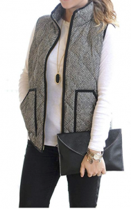 Women's Slim Fall Quilted Herringbone Puffer Vest Amazon | Shopping for Fall | OPAS