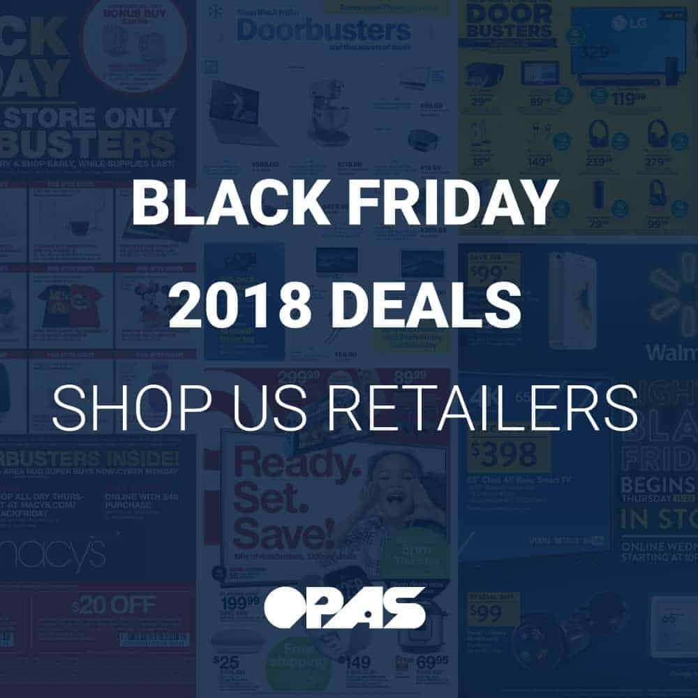 Black Friday 2018 Deals | OPAS Blog