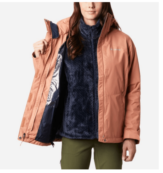 Columbia Sportswear fleece waterproof rain jacket