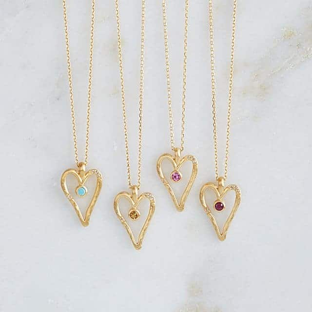 Birthstone Heart Necklace | Valentine's Day Gift Ideas | OPAS Blog