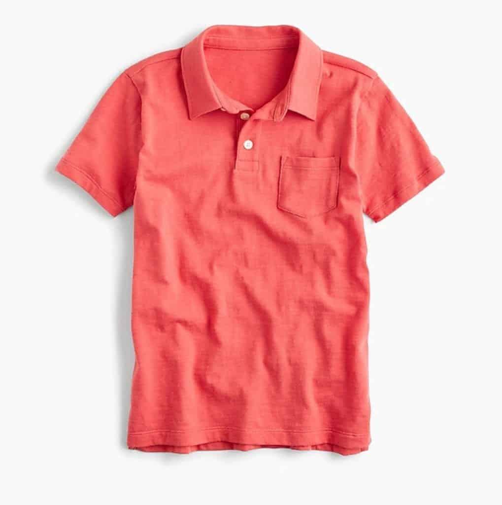 Boys Slub Cotton Polo Shirt JCrew | Living Coral Trends | OPAS Blog