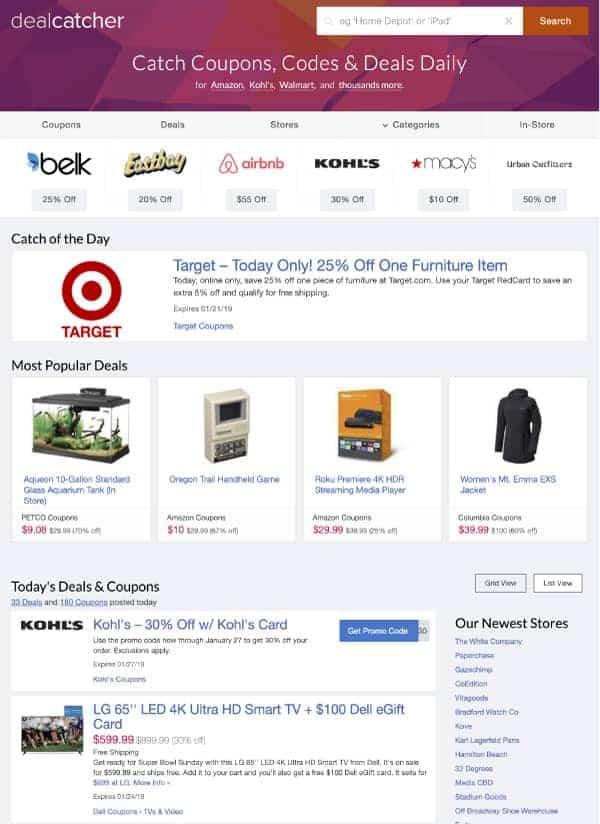 dealcatcher | US Promo Codes | OPAS Blog