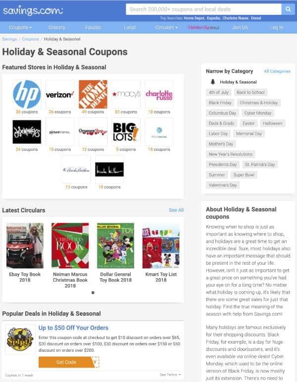 Savings.com Coupons   US Promo Codes   OPAS Blog