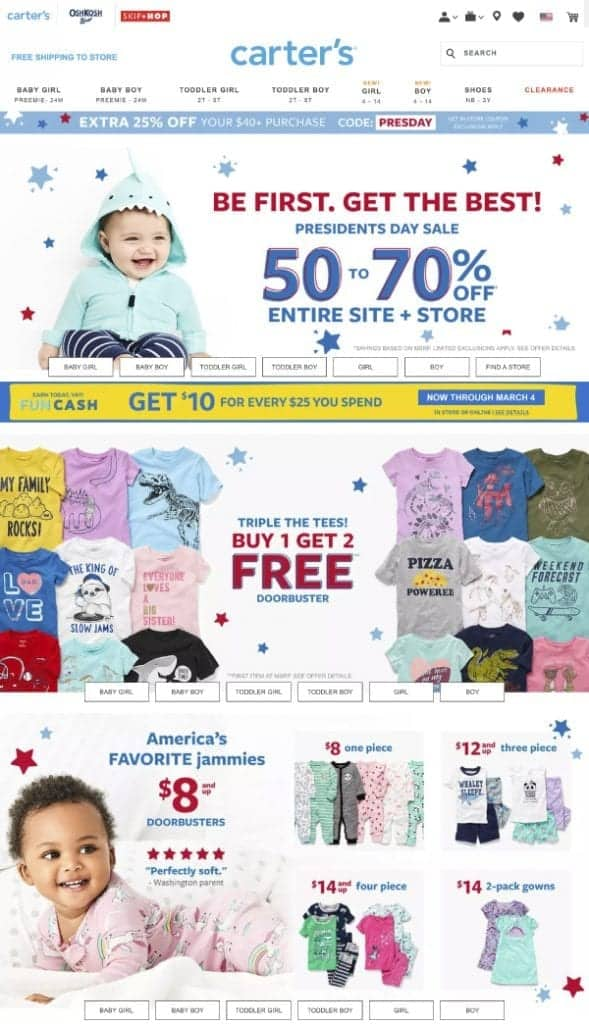 Carter's | Top President's Day Sales | OPAS