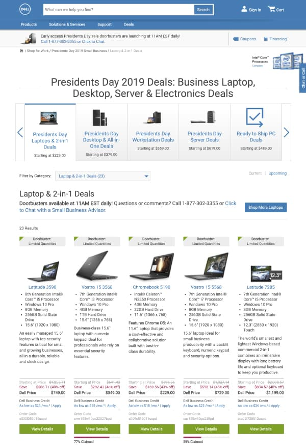 Dell | Top President's Day Sales | OPAS
