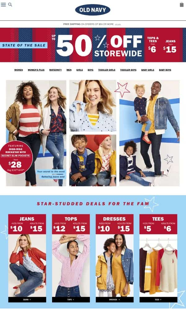 Old Navy | Top President's Day Sales | OPAS
