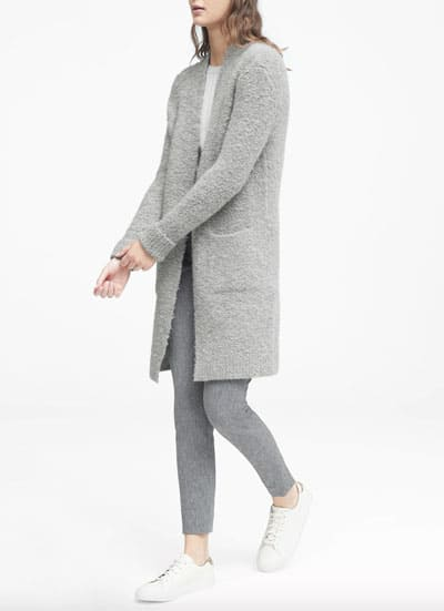 Bouclé Duster Cardigan Sweater - Winter Fashion - OPAS Blog