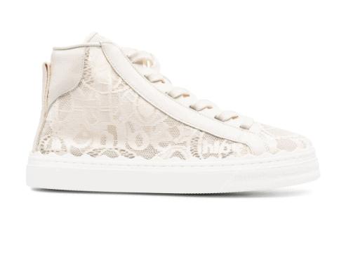 Chloe lace sneakers