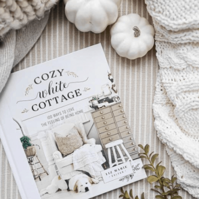 Cozy white cottage book
